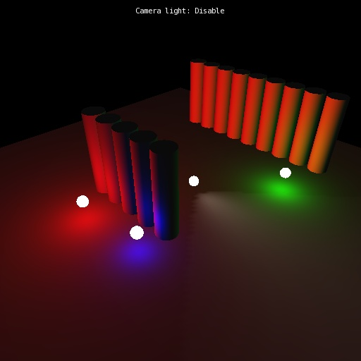 Visualization Library: Directional, Point and Spot Lights